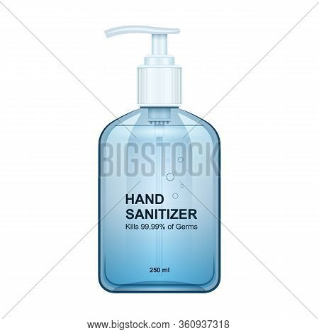Hand Sanitizer Vector Icon.realistic Vector Icon Isolated On White Background Hand Sanitizer.
