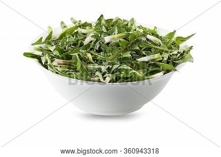 Healthy Dandelion Salad Isolated On White 4/40 Image Series