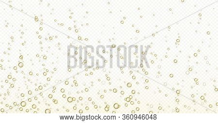 Soda Bubbles, Champagne, Water Or Oxygen Air Fizz, Carbonated Drink Or Underwater Abstract Backgroun