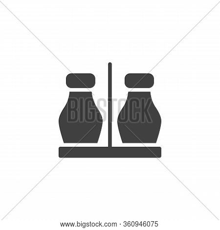 Ketchup And Mustard Sauce Bottles Vector Icon. Filled Flat Sign For Mobile Concept And Web Design. M