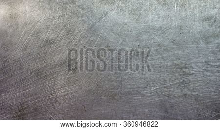Iron Background. There Are Scratches On The Surface Of The Iron, Ancient Metal Wall, Iron Texture Wi
