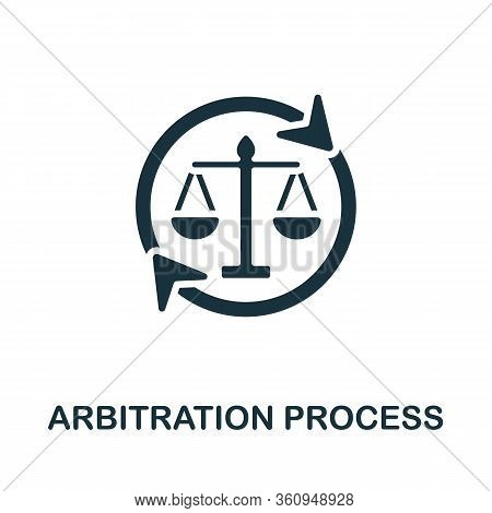 Arbitration Process Icon. Simple Illustration From Digital Law Collection. Creative Arbitration Proc