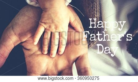 Greeting Card For Happy Fathers Day With Mans Stuff On It, Dad Day, Holiday For Father