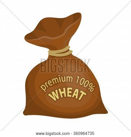 Vector Design Of Flour And Bag Sign. Set Of Flour And Sack Stock Symbol For Web.