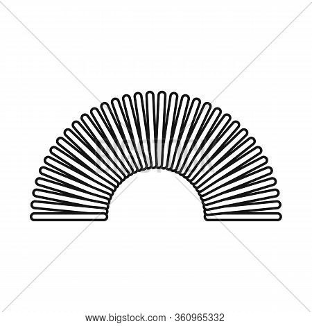 Vector Design Of Coil And Plastic Symbol. Graphic Of Coil And Spiral Stock Symbol For Web.