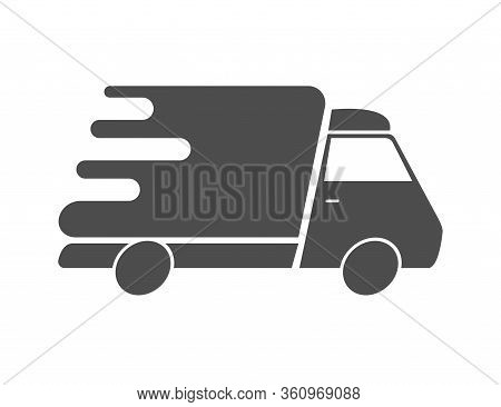 Truck Delivery Fast And Quick. Van Auto Shipping To Deliver Foods. Transport Courier Service. Logist