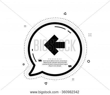 Left Arrow Icon. Quote Speech Bubble. Direction Arrowhead Symbol. Navigation Pointer Sign. Quotation