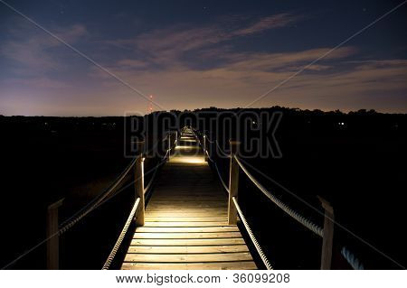 Dock and Sky at Night
