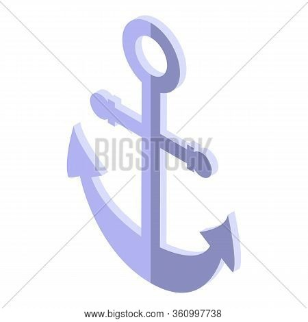 Cruise Anchor Icon. Isometric Of Cruise Anchor Vector Icon For Web Design Isolated On White Backgrou