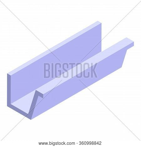 Wall Roof Gutter Icon. Isometric Of Wall Roof Gutter Vector Icon For Web Design Isolated On White Ba