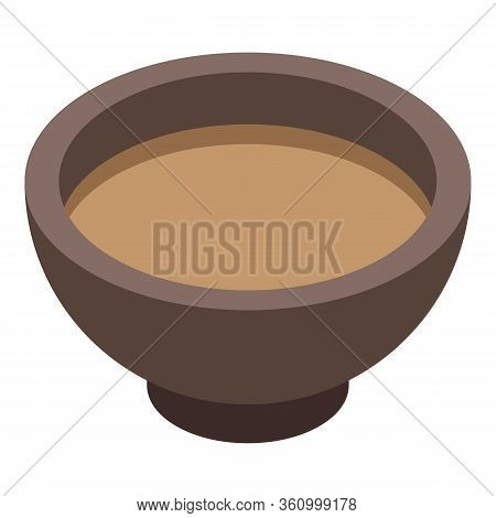 Tea Ceremony Bowl Icon. Isometric Of Tea Ceremony Bowl Vector Icon For Web Design Isolated On White