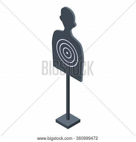 Shooting Sport Target Icon. Isometric Of Shooting Sport Target Vector Icon For Web Design Isolated O
