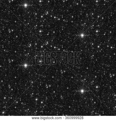 Starry Sky Seamless Pattern.  Black And White Abstract Background. Design For Wrapping Paper, Yoga M