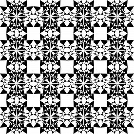 Abstract Arabesque Shield Developement Project Design Black On Transparent Seamless Plaid Background