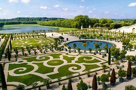 Versailles, Yvelines, Ile-de-france, France - June 3, 2018: Gardens Of Versailles Apollo Fountain. V