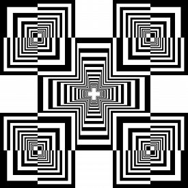 Abstract Arabesque Frame Cross Celtic Like Developement Project Design Black On Transparent Seamless