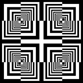 Abstract Arabesque Square Frame Cross Celtic Like Developement Project Design Black On Transparent S