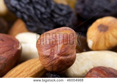 Dried Fruits And Nuts Close Up
