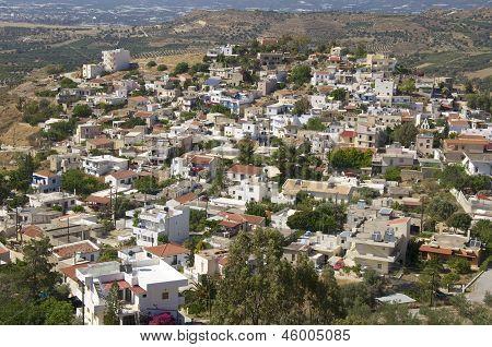 The village Kamilari on Crete