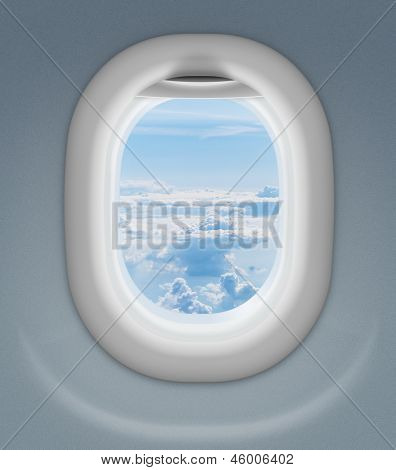 window of airplane or aeroplane