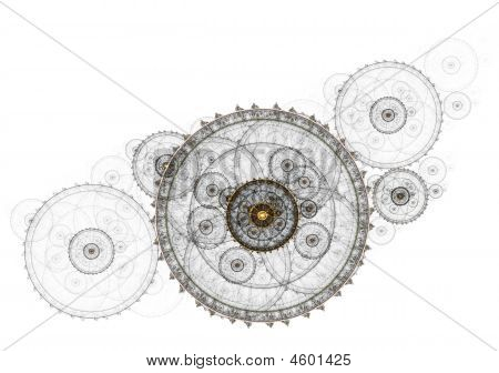 Ancient Mechanism Metallic Clockwork