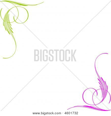 Fluorescent Swirls Background