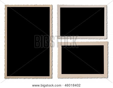 Antique Photo Frame Set With Wavy Edges