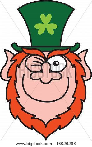 Naughty Saint Patrick's Day Leprechaun