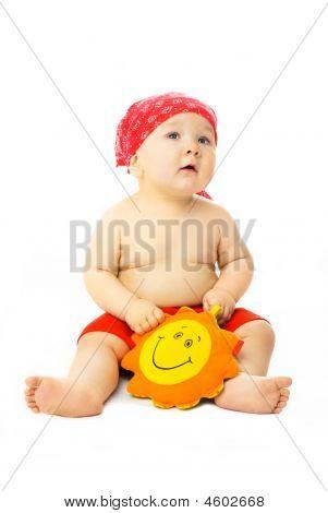 Cute Baby Ready For The Beach Season
