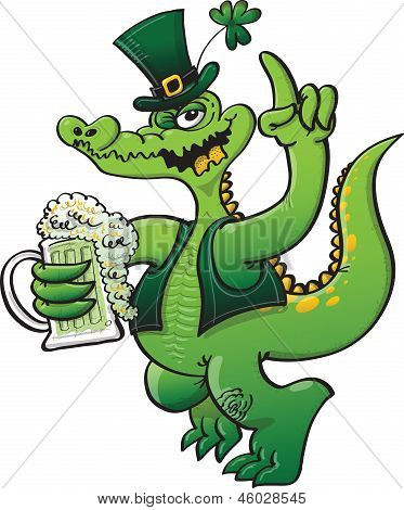 Saint Paddy's Day Crocodile