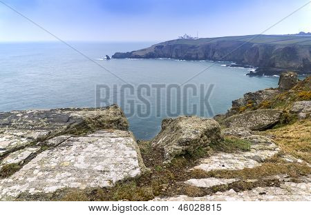 Lizard Point and lighthouse landscape