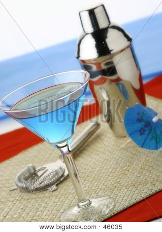 Blue Cocktail Martini