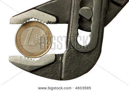 1 Euro In Adjustable Spanner