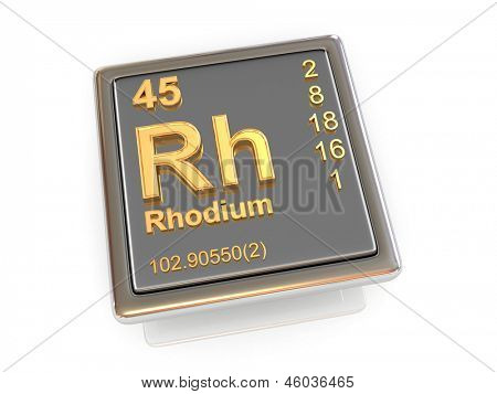 Rhodium. Chemical element. 3d