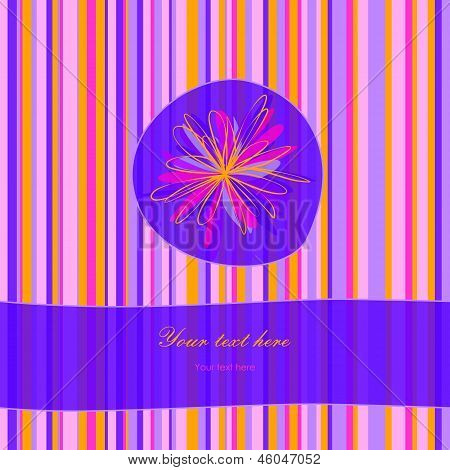 Striped Floral Card