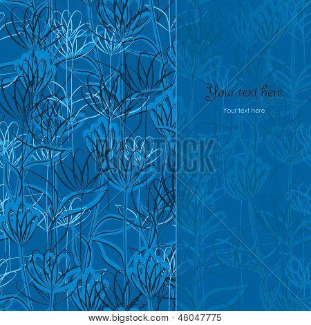 Delicate Blue Floral Background