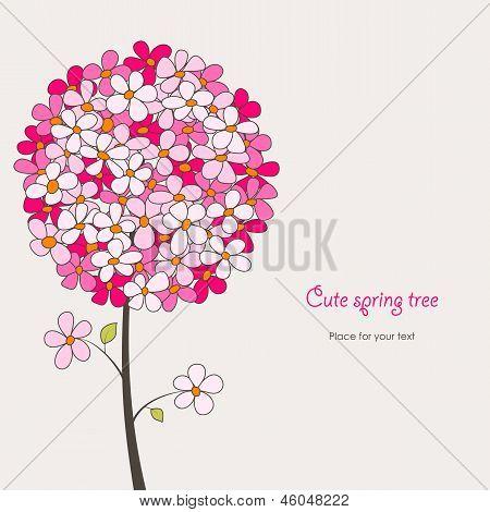Cute Spring Tree