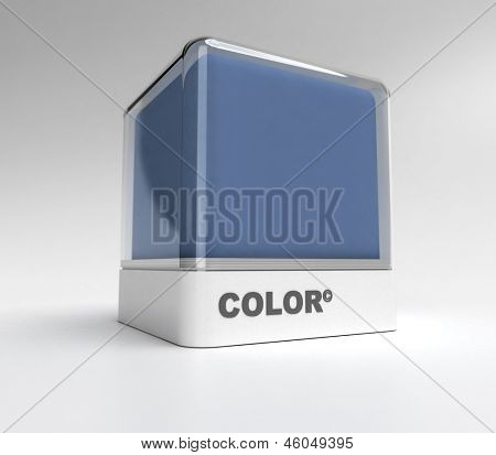 Design block in a bluish gray color