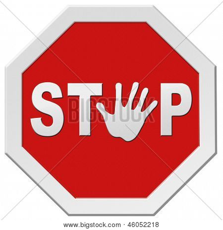 stop warning road sign hand stopping signpost halt