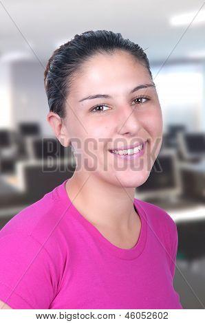 Girl In Computer Class