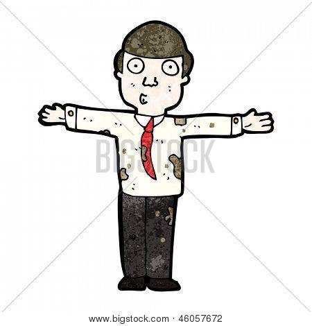 cartoon dirty businessman
