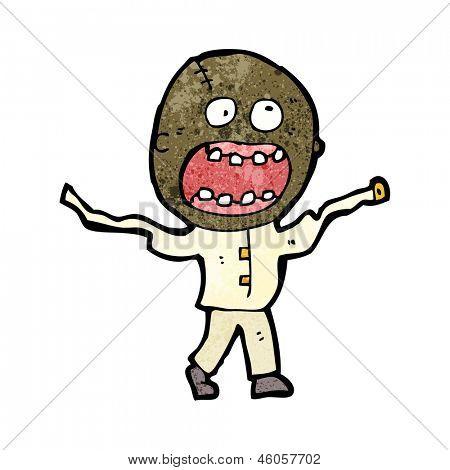 cartoon mad man in straight jacket