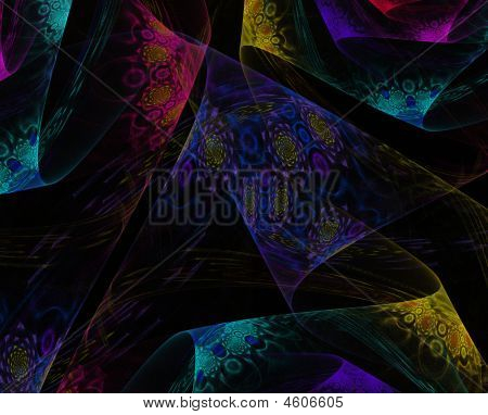 Colorful Textured Lace