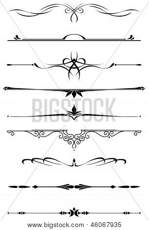 Vintage dividers and borders