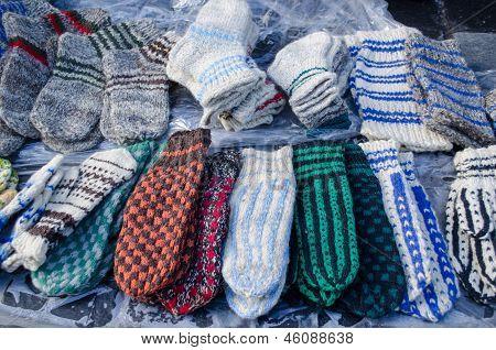 Warm Woven Knit Wool Woollen Sox Socks Market Fair