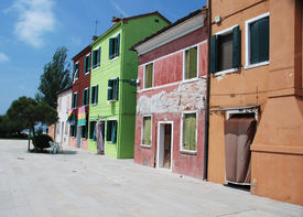 Colourful Houses On Burano