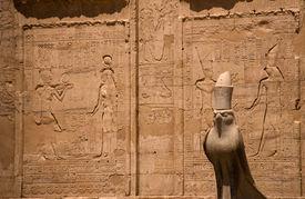 Horus At Edfu Temple