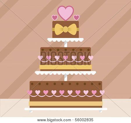 Chocolate tier wedding cake