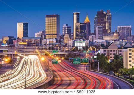 Traffic in Atlanta, Georgia, USA.