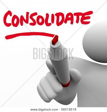 Consolidate Word Combining Companies Consolidation Organization